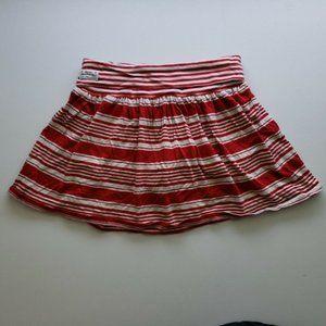 Polo Ralph Lauren Girls Red Striped Skirt Skort 6